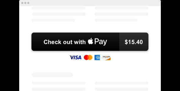 Apple Pay Button<br>widget for website