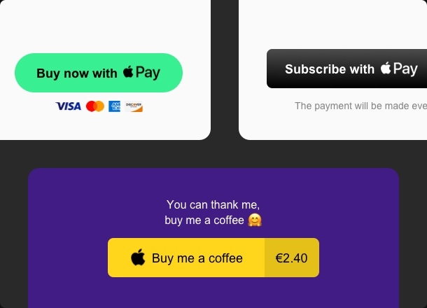Set up payments, subscriptions, and donations in seconds