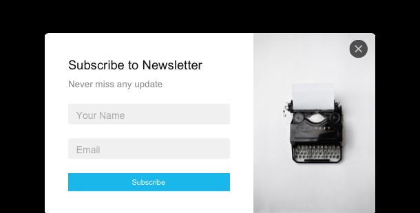 Subscription Form<br>widget for website