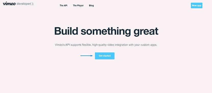 Vimeo API application