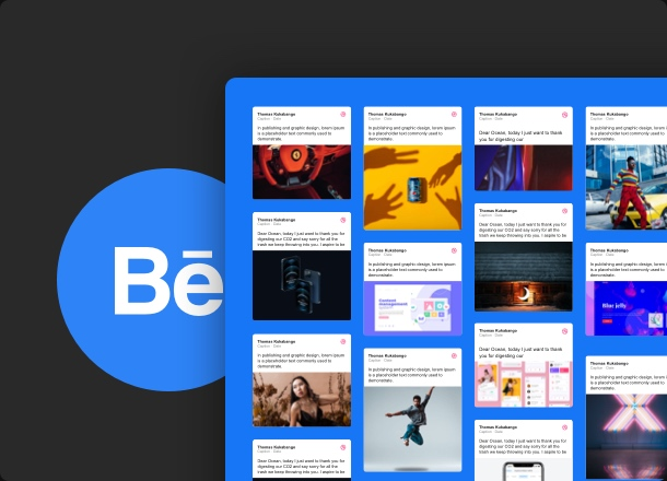 Display your Behance feed and emphasize exactly what you want