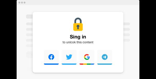 Content Locker <br>widget for website