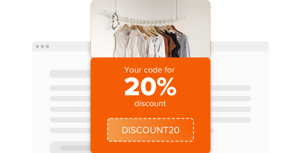 Coupon <br>widget for website