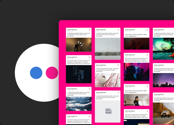 Show off your Flickr content and make the right accents