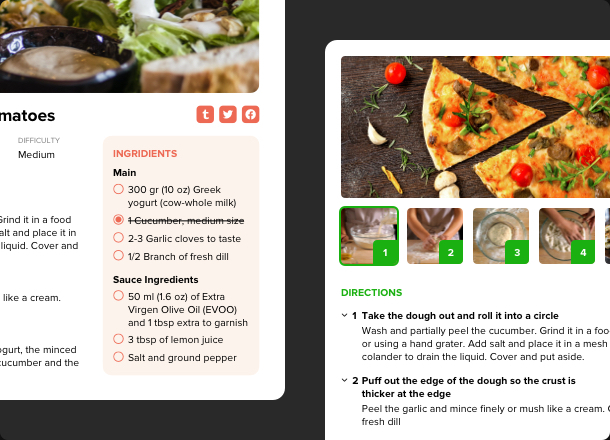 Publish recipes and add visuals to them in seconds