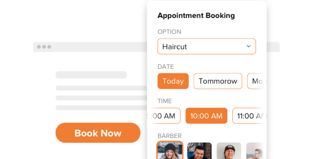 Appointment Booking <br>widget for website