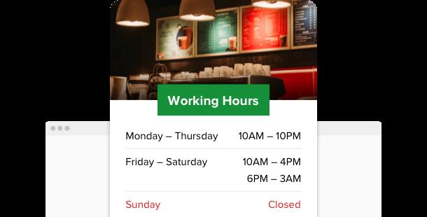 Business Hours Widget