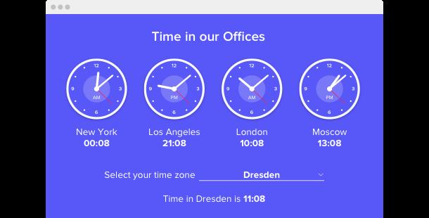 Clock <br>widget for website