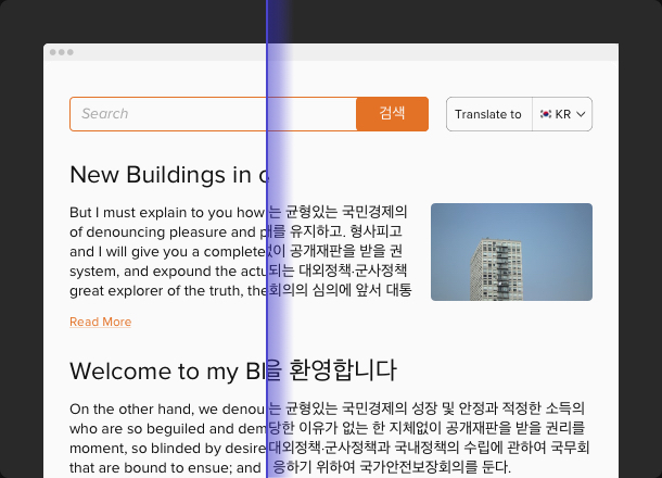 Translate your website in all popular languages
