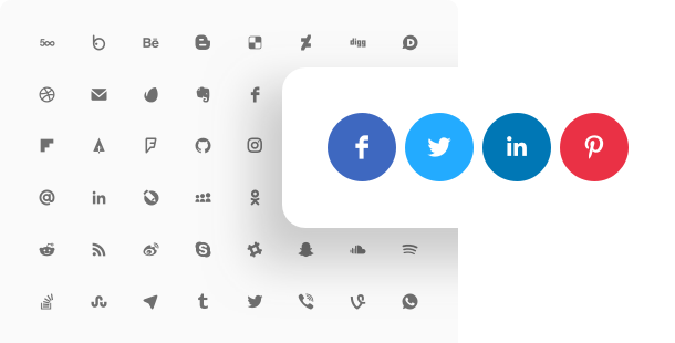Social Media Icons widget for website
