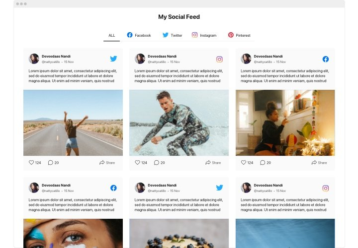 iFrame Social Media Feed widget