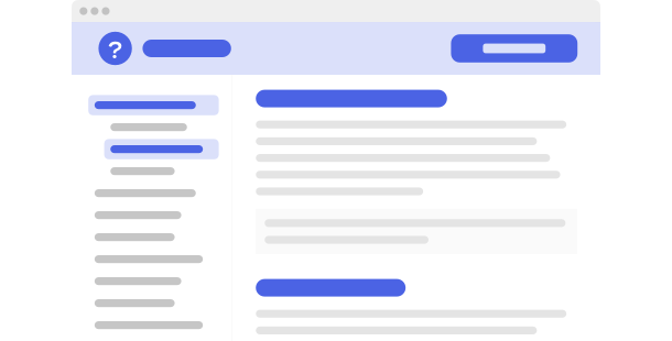 Help Center <br>widget for website