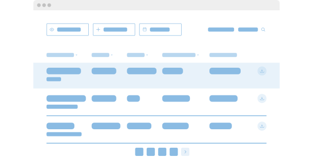 Table <br>widget for website