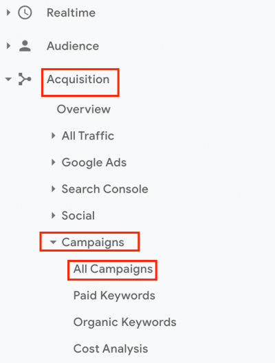 GA Aquisition - analytics
